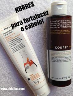 PRODUTOS KORRES PARA CABELOS, ROSTO E MÃOS. Cosméticos naturais de origem grega de altíssima qualidade! #Korres #cabelos #rosto #products