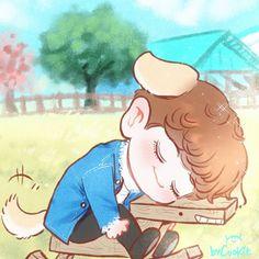 #Fanart #Chanyeol #EXO Cr.yooocookie