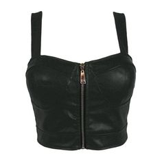 Faux Leather Zip Front Padded Cups Bustier Bralet PU Party Crop Top M& (UK Free UK Shipping on Orders Over and Free Returns, on Selected Fashi… Top Bustier, Black Bustier, Bralette Crop Top, Black Bralette, Party Crop Tops, Leather Crop Top, Leather Bustier, Teen Fashion Outfits, Mode Outfits