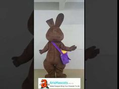 Adult size Brown Rabbit mascot costume for Easter Holiday
