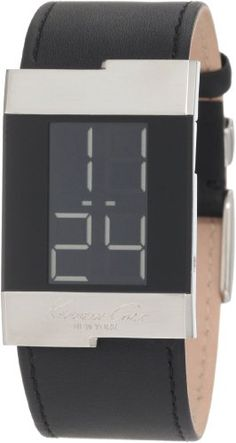 Kenneth Cole New York Men's KC1296-NY Digital Leather Watch - http://www.specialdaysgift.com/kenneth-cole-new-york-mens-kc1296-ny-digital-leather-watch/