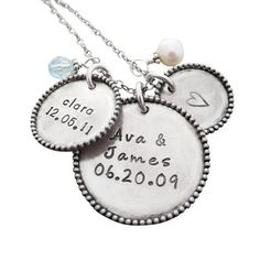 1000 Images About Mothers Necklace With Kids Names On