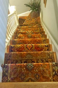 Patterned Carpet For Stairs Staircase Rug Runner Patterned Stair Carpet Ideas