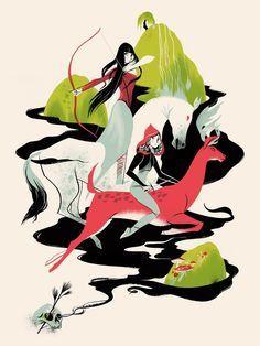 Image of Warrior Sisters Art Print
