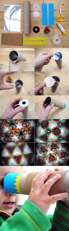 DIY tuto caléidoscope - enfants - atelier créatif - papier - lumière - kids - paper