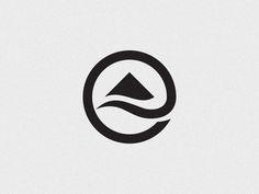 HTV Brand Mark designed by Bratus ™. Logo Montagne, Hill Logo, Sea Logo, Holographic Print, Resort Logo, Church Logo, Water Logo, Mountain Logos, Typography Logo