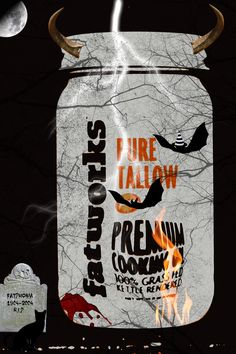 Talloween 2014 R.I.P. gravestone. Anyone buried there gets a special low fat cookie!  As always get you Grass Fed Tallow, Lard and Duck Fat 25% off on Talloween at www.fatworks.com #fatworks #fattitude #talloween #grassfed #tallow #pastureraised  #leaflard #lard #duckfat #paleo #primal #gourmet #crossfit #saturatedfat  #grainfree #saturatedsuperheros #glutenfree