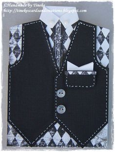 Tineke & # s cards and creations: Men's card! - Mimi Nostalgie Tineke's cards and creations: Mannenkaart! Tineke & # s cards and creations: Men's card! Happy Birthday Man, Birthday Cards For Boys, Masculine Birthday Cards, Masculine Cards, Tuxedo Card, Card Making Templates, Suit Card, Camisa Formal, Shaped Cards