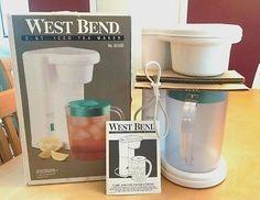 West Bend #6050 WHITE 2-QUART 625W ICE TEA MAKER w/PITCHER