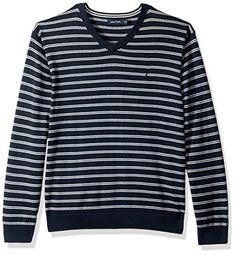Nautica Men's Standard Long Sleeve Striped Classic V-Neck... https://www.amazon.com/dp/B01N1NZD6T/ref=cm_sw_r_pi_dp_U_x_2oJGAbBS983J5