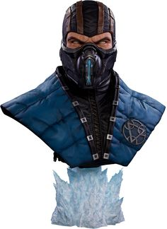 Mortal Kombat Sub-Zero Life-Size Bust by Pop Culture Shock Sub Zero, Pop Culture Shock, Mortal Kombat 9, Life Size Statues, Sculpture Head, Batman Poster, Overwatch, Sideshow Collectibles, Sculpting