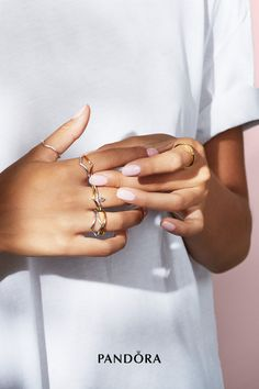 Pandora Jewelry OFF!> Wear your wishes stylishly with our geometric Pandora wishbone rings shaped for stacking. Play with different metals textures and directions to create show-stopping rings stacks to showcase a particular look. Pandora Rings, Pandora Bracelets, Pandora Jewelry, Charm Jewelry, Pandora Charms, Fine Jewelry, Jewellery, Rose Gold Lights, Ring Shapes