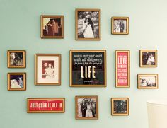 Putting a grouping of family photos in a nursery is such a sweet idea.