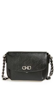 7186aeacd265 Salvatore Ferragamo  Sandrine  Leather Shoulder Bag available at  Nordstrom Leather  Shoulder Bag