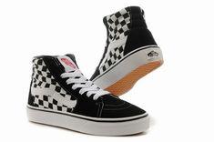 6f2b4662e3d Vans SK8-Hi Checkerboard Black White Classic Mens Shoes  Vans