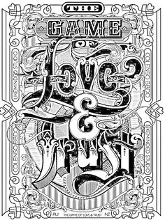 Swear Word Coloring Book, Love Coloring Pages, Printable Adult Coloring Pages, Coloring Books, Coloring Sheets, Inspiration Typographie, Typography Inspiration, Design Inspiration, Color Quotes