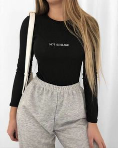 Cute Lazy Outfits, Retro Outfits, Stylish Outfits, Cool Outfits, Casual Sporty Outfits, Simple Outfits, Winter Fashion Outfits, Look Fashion, Fashion Hair