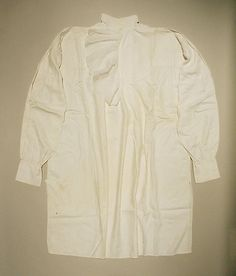 Shirt Date: 1800–1825 Culture: American Medium: linen, cotton