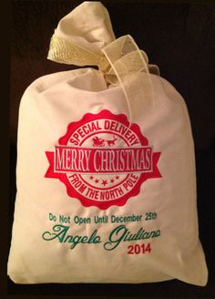 Personalized Santa Sack Embroidered Special by CasualTeeKids