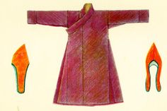 Tibetan monk's garment, wollen fabric lined in cotton. From http://www.indiana.edu/~librcsd/etext/tilke/p4.html