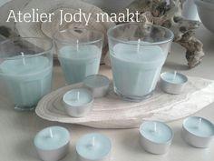 Soja kaarsen met de geur wilde roos. Gemaakt door Atelier Jody maakt.