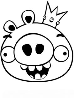 King Smoothcheeks Coloring Page From Angry Birds Category Select 30163 Printable Crafts Of Cartoons Nature Animals Bible And Many More