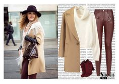 """""""Turtleneck Crop Beige Sweater- SHEIN"""" by cherry-bh ❤ liked on Polyvore featuring Parisian, Theory and shein"""