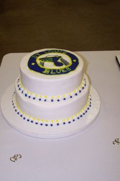 st louis blues grooms cake more like brides cake mine will be more