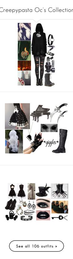 """""""Creepypasta Oc's Collection"""" by pastelgothprincess27 ❤ liked on Polyvore featuring Dr. Martens, BLANKNYC, Killstar, Nexus, GAS Jeans, D.L. & Co., beauty, Kate Spade, madnessoc and art"""