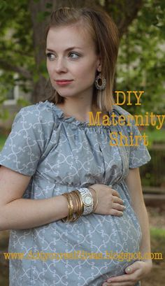 DIY: The Perfect Maternity Shirt |do it yourself divas -- Damn, where were these when I was pregnant?  Still, looks like a cute comfy top for anyone
