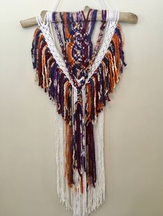Macrame Wall Hanging Christmas Gift by SilverMoonMacrame on Etsy