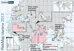 Pirate Risk on the High Seas - 36 maps that will make you see the world in completely new ways
