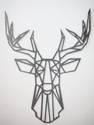 59 ideas for origami dessin cerf Geometric Deer, Geometric Designs, Geometric Drawing, Deer Wall Art, Metal Wall Art, Moose Tattoo, Hirsch Tattoo, Deer Skulls, String Art