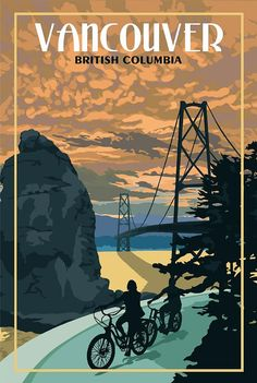 Vancouver BC – Vintage Travel Poster - Just Poster Retro, Poster S, Poster Prints, Pin Ups Vintage, Posters Canada, Places To Travel, Travel Destinations, Voyage Canada, Vancouver British Columbia