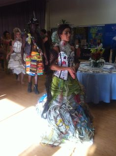 The beautiful 'Trashion' costumes created by Marina DeBris with trash collected on the beach - a strong statement against ocean pollution