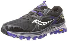 Saucony Womens Xodus 50 GTX Trail Running ShoeBlackPurple65 M US *** Read more  at the image link.