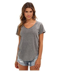 PERFECT T-SHIRT. Free People Wildfire Tee Grey Heather - 6pm.com