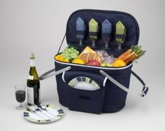 Amazon.com: Picnic at Ascot Collapsible Insulated Picnic Basket: Patio, Lawn & Garden