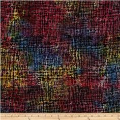 "Timeless Treasures 106"" Batik Quilt Back Sketch Bright"