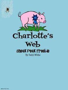 Charlotte's Web Sneak Peek Preview - A Series of 3rd Grade Events - TeachersPayTeachers.com