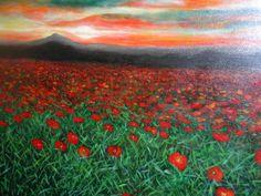 Tibetan poppies fields by Marie-Line Vasseur