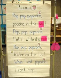 """---> """"Poem of the Week"""" engages students in rhyming, word recognition, and concepts of print with these cute poems! Cover up a word and see if they can figure out what that word starts with Preschool Poems, Rhyming Poems, Rhyming Activities, Kids Poems, Kindergarten Literacy, Literacy Centers, Simple Poems For Kids, Early Literacy, Preschool Learning"""