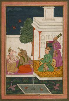 Sri Raga - Miniature Painting, Deccan school, Ragamala series, 19th Century. Digital Walters.