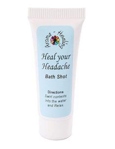HEAL YOUR HEADACHE Bath Oil | Essential Oils for Relaxation | Bath Soaks | Me Bath | Bath Oil Pearls