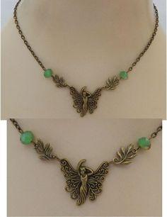 Gold Woodland Fairy Strand Necklace Jewelry Handmade NEW Adjustable Accessories #Handmade #Pendant