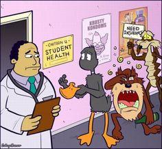 Dr. Julius Hibbert, Simpsons, Daffy Duck, Tasmanian Devil, Taz, Wyle E. Coyote