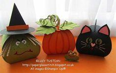 más y más manualidades: Hermosas cajitas de halloween con un solo molde