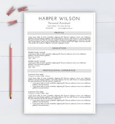 Word Resume Template 2007 Creative Resume Template Cv Template For Word Two Pages Resume .