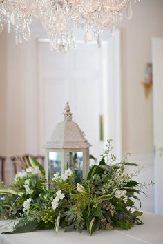 table wreath with a lantern…. an awesome centerpiece for a Kitchen table or a console table! I LOVE lanterns! Lantern Centerpieces, Christmas Centerpieces, Wedding Centerpieces, Wedding Decorations, Christmas Decorations, Holiday Decor, Centerpiece Ideas, Flower Centerpieces, Greenery Centerpiece