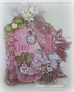 CraftEmotions - High Tea Rose label
